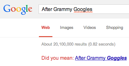 After Grammy Googles