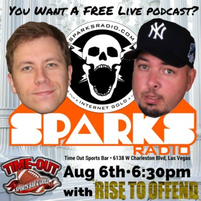 The first ever LIVE SPARKS RADIO PODCAST is happening!!!!