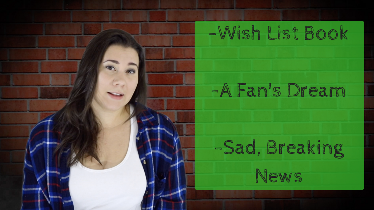 -Wish List Book-A Fan's Dream-Sad, Breaking News