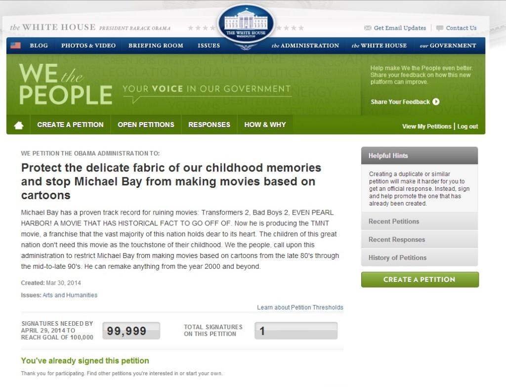 STOP MICHAEL BAY