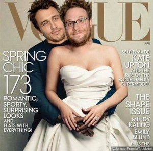 james-franco-and-seth-rogen-recreate-kanye-west-and-kim-kardashian-s-vogue-cover