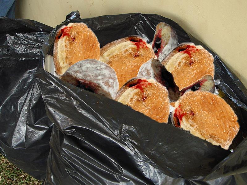 garbage donuts
